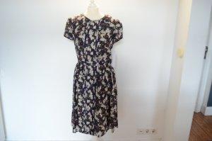 DORI-LA UVP $1050,00 High Society Seidenkleid NEU! US10 D 38 Blumenprint Kleid