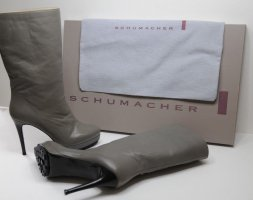 Dorothee Schumacher high boot Stiefel Leder grau (farbe 975) 37,5