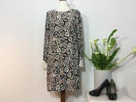 DOROTHEE SCHUMACHER Kleid Seidenkleid Gr. 38 beige schwarz edel neuw.
