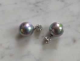 Double Pearl Tribales Ohrringe Perlen