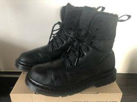 Dr. Martens Bottes de neige noir cuir