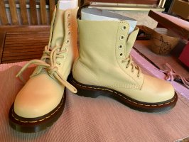 Dr. Martens Airways Lace-up Booties pale yellow