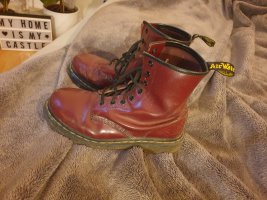 Dr. Martens Lace-up Boots dark red