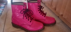 Dr. Martens Bottes à lacets rose-rose fluo
