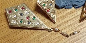 Vintage Broche doré métal