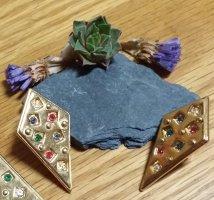 Vintage Pendientes de clip color oro metal