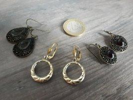 Bungeloorbellen zwart bruin-goud Metaal