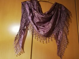 Traditional Scarf dark violet silk