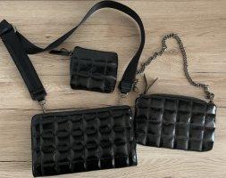 Dreifache Umhängetasche mit Brieftasche