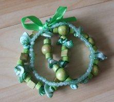 Dreiteiliges Armband-Set – grün - türkis