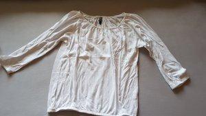 Dreiviertel Shirt weiß Größe M