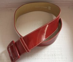 Drykorn for beautiful people Leather Belt dark red