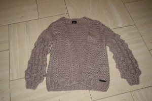 Coarse Knitted Jacket dusky pink