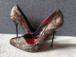 Dsquared2 Carrie Pizzo Lace Pumps Spitze Seide pointy Heels