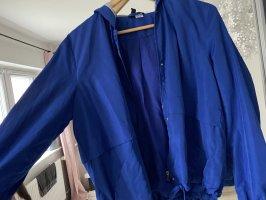 H&M Kurtka oversize niebieski-jasnoszary