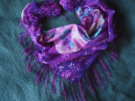Bijou Brigitte Fringed Scarf multicolored