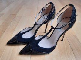 Dune Zapatos de tacón con barra en T negro