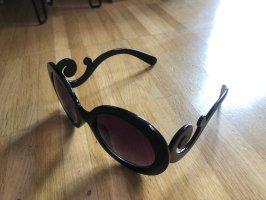 Okrągłe okulary przeciwsłoneczne ciemnobrązowy