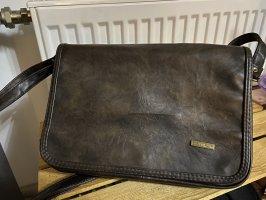 Dunkel braune Handtasche