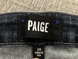 Paige Jeansy ze stretchu ciemnoniebieski