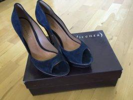 Vicenza Sandały na platformie niebieski Skóra