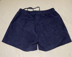 Dunkelblaue Veloursleder Shorts Größe S / 36 von Second Female