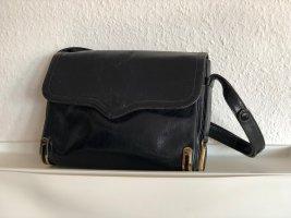 Dunkelblaue Vintage-Handtasche mit verstellbarem Gurt