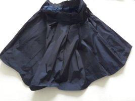 Jil Sander Flared Skirt dark blue polyester