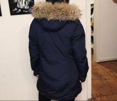 Woolrich Kurtka zimowa ciemnoniebieski-jasnobrązowy