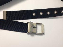 Esprit Belt dark blue-silver-colored
