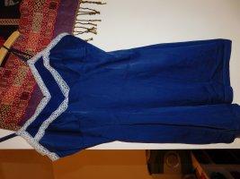 Dunkelblaues Sixties Nachthemd
