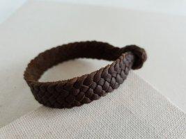 Bracelet en cuir brun-marron clair