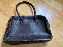 Briefcase black brown-beige
