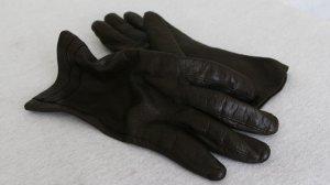 Kürschner Rękawiczki skórzane ciemnobrązowy