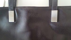 Dunkelbraune Lederhandtasche von Esprit
