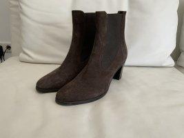 di Marzio Slip-on Booties bronze-colored leather
