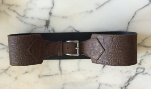 Hallhuber Leather Belt multicolored leather
