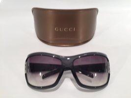 Gucci Occhiale da sole spigoloso antracite