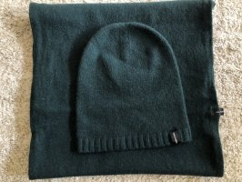 Hallhuber Sombrero de punto verde bosque-verde oscuro Lana