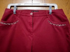 Alfredo Pauly Pantalon en jersey rouge foncé