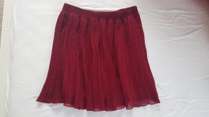 Ann Christine Pleated Skirt dark red polyester