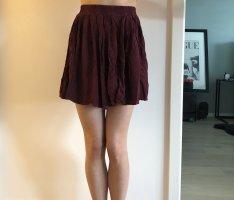 Brandy & Melville Mini-jupe bordeau-rouge foncé