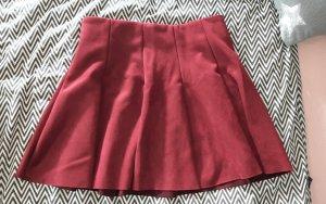 Tally Weijl Skaterska spódnica ciemnoczerwony