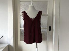 Asos Backless Top bordeaux