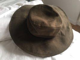 Zara Accesoires Safari Hat green grey