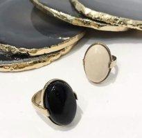 Dyrberg Kern Ring Mattie  mit Edelstein Marmor gold beige minimal pure design