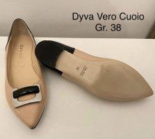Vero Cuoio Ballerina's met kant licht beige