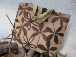 Sacchetto di tela color cammello-marrone