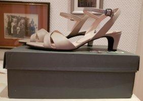 Ecco Sandaletten Gr. 41 nude Absatz ca. 5 cm