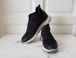 Ecco Instapsneakers zwart-wit Gemengd weefsel